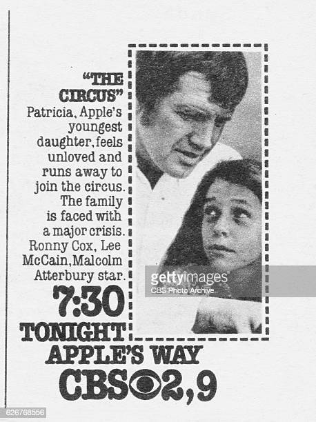 Television advertisement as appeared in the September 21, 1974 issue of TV Guide magazine. An ad for the Sunday primetime family drama: Apples Way .