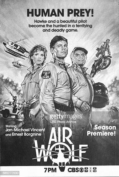 Television advertisement as appeared in the September 22 1984 issue of TV Guide magazine An ad for the action drama Airwolf which aired on Saturday...