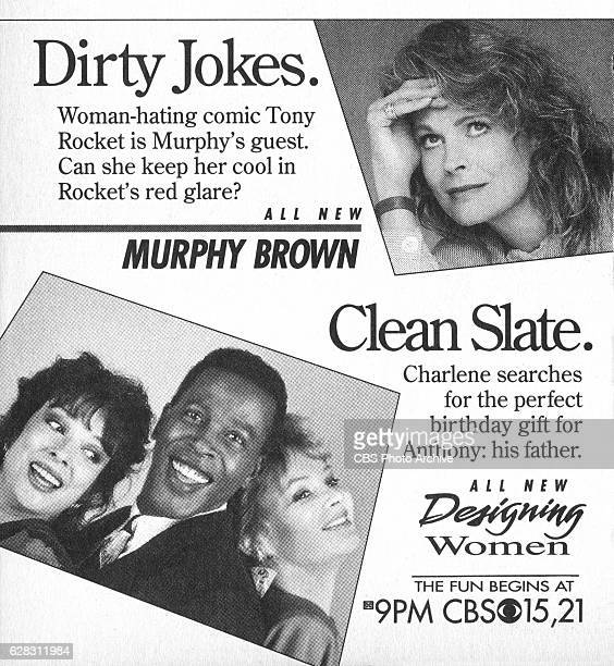 Television advertisement as appeared in the September 22 1990 issue of TV Guide magazine An ad for the Monday primetime comedies Murphy Brown and...