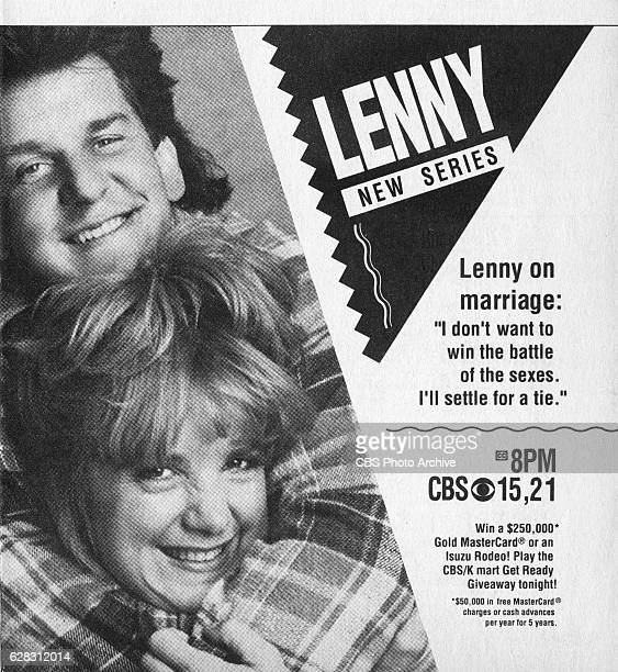 Television advertisement as appeared in the September 22, 1990 issue of TV Guide magazine. An ad for the Wednesday primetime comedy: Lenny .