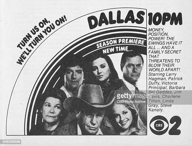 Television advertisement as appeared in the September 23, 1978 issue of TV Guide magazine. An ad for the prime time drama: Dallas, which aired...