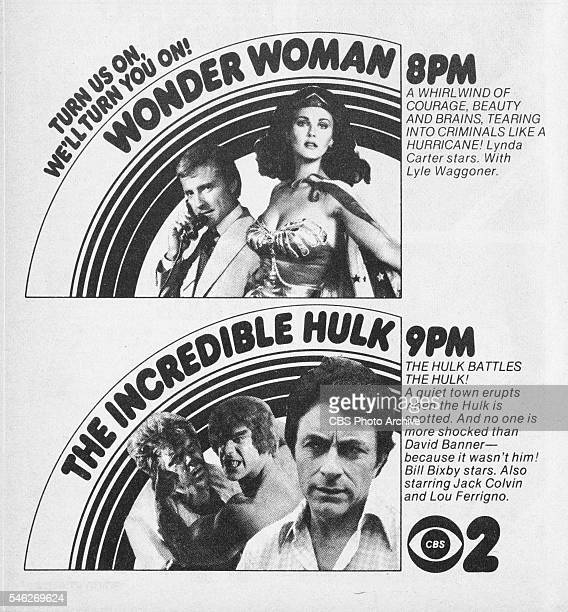 Television advertisement as appeared in the September 23 1978 issue of TV Guide magazine An ad for the adventureaction programs Wonder Woman and The...
