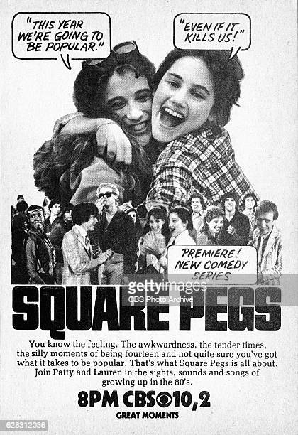 Television advertisement as appeared in the September 25 1982 issue of TV Guide magazine An ad for the Monday primetime comedy Square Pegs The CBS...