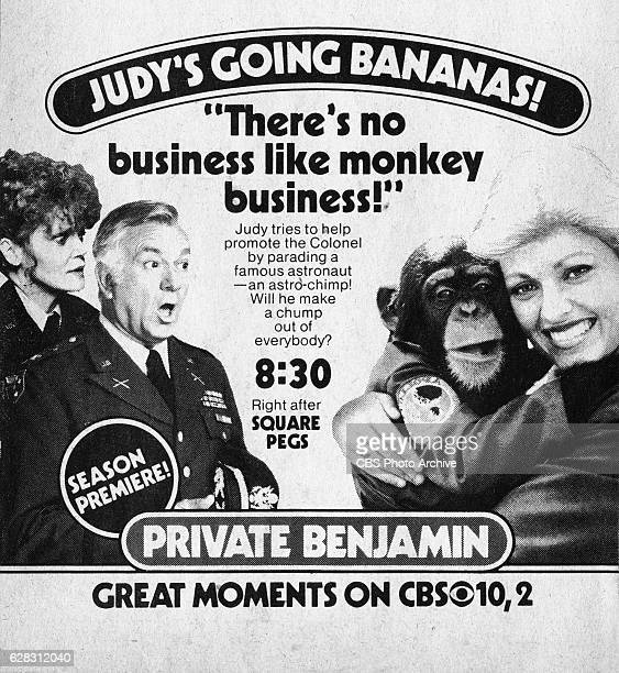 Television advertisement as appeared in the September 25 1982 issue of TV Guide magazine An ad for the Monday primetime comedy Private Benjamin The...