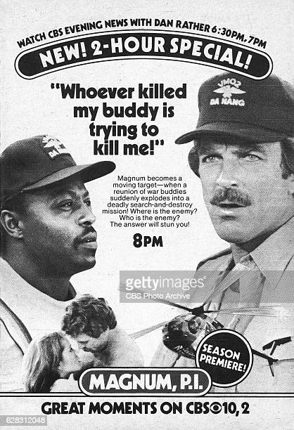 Television advertisement as appeared in the September 25 1982 issue of TV Guide magazine An ad for the Thursday primetime detective drama Magnum PI...