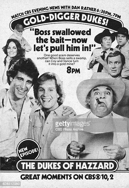 Television advertisement as appeared in the September 25 1982 issue of TV Guide magazine An ad for the Friday primetime comedy The Dukes of Hazzard...