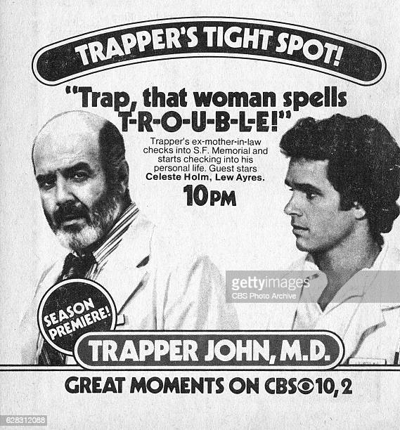 Television advertisement as appeared in the September 25 1982 issue of TV Guide magazine An ad for the Sunday primetime medical drama Trapper John MD...