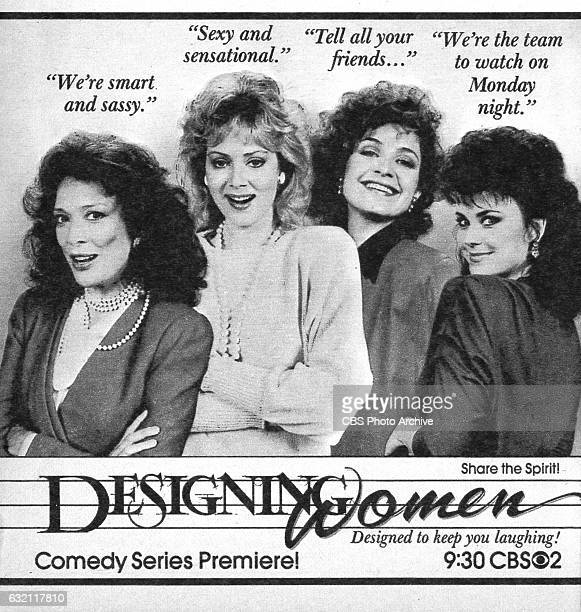 Television advertisement as appeared in the September 27 1986 issue of TV Guide magazine An ad for the Monday primetime comedy Designing Women The...