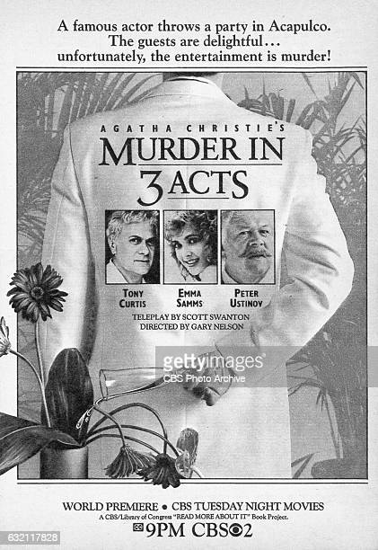 Television advertisement as appeared in the September 27 1986 issue of TV Guide magazine An ad for the Tuesday night madeforTV movie Agatha Christies...