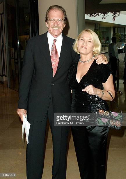 Television anchor and Master of Ceremonies Pat O'' Brien and his wife attend the Big Brothers Big Sisters of Greater Los Angeles Gala and Auction...