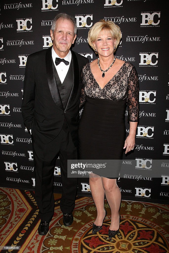 Television anchor Charlie Gibson and journalist/ television host Joan Lunden attend at 2012 Broadcasting & Cable Hall Of Fame Awards The Waldorf Astoria on December 17, 2012 in New York City.