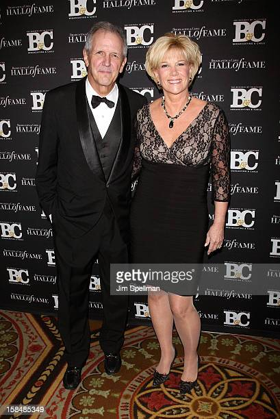 Television anchor Charlie Gibson and journalist/ television host Joan Lunden attend at 2012 Broadcasting Cable Hall Of Fame Awards The Waldorf...
