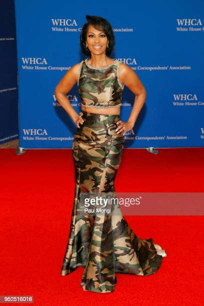 Television anchor Harris Faulkner attends the 2018 White House Correspondents' Dinner at Washington Hilton on April 28 2018 in Washington DC