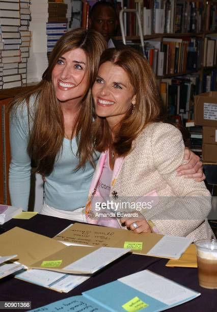 """Television anchorwoman and California First Lady Maria Shriver poses for a photo at the signing of her new children's book """"What's Happening to..."""