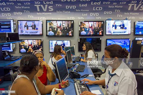 Television and digital appliances shopping and buying by a growing middle class