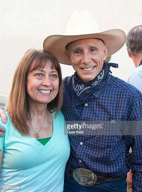 Television and film legend Johnny Crawford takes a photo with a fan during his star unveiling ceremony at The Walk of Western Stars on April 21 2016...