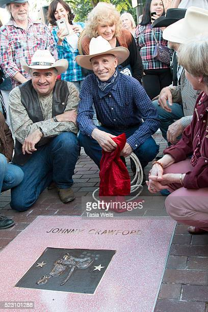 Television and film legend Johnny Crawford unveils his star on The Walk of Western Stars on April 21 2016 in Newhall California