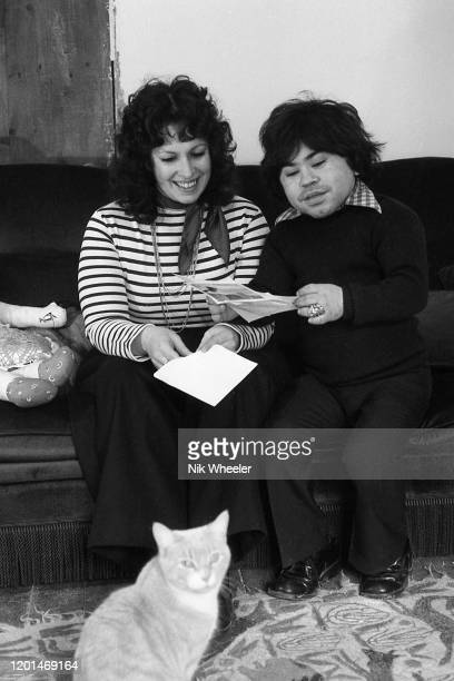 Television and Movie Actor Herve Villechaize 1943-1993 who played Tattoo in the TV series Fantasy Island and committed suicide in Los Angeles, sits...