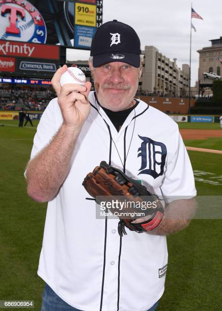 Television and movie actor Ron Perlman poses for a photo prior to the MLB game between the Detroit Tigers and the Texas Rangers at Comerica Park on...
