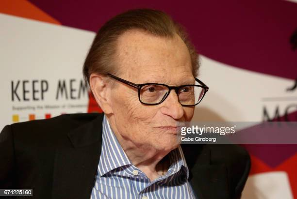 "Television and radio host Larry King attends Keep Memory Alive's 21st annual ""Power of Love Gala"" benefit for the Cleveland Clinic Lou Ruvo Center..."
