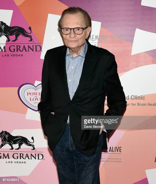 Television and radio host Larry King attends Keep Memory Alive's 21st annual 'Power of Love Gala' benefit for the Cleveland Clinic Lou Ruvo Center...