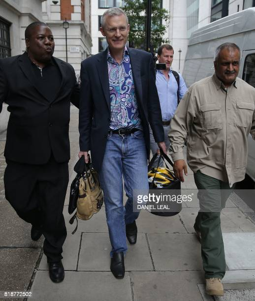 BBC television and radio presenter Jeremy Vine leaves the British Broadcasting Corporation studios in central London on July 19 2017 Britain's public...