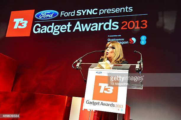 Television and radio presenter Maggie Philbin presenting the Entertainment Gadget of the Year award at the 2013 T3 Gadget Awards inside the Old...