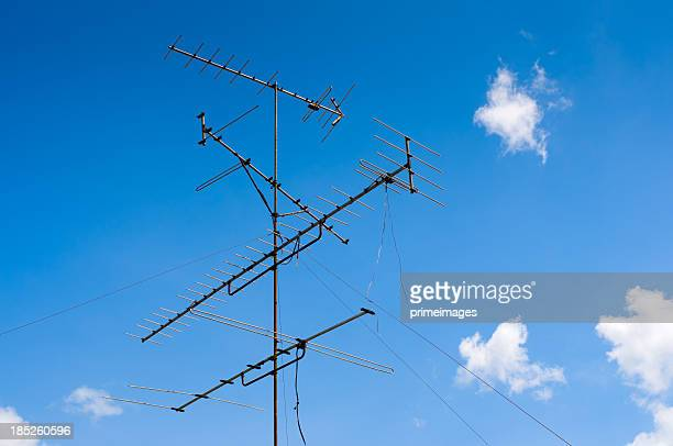 Television antenna and blue sky