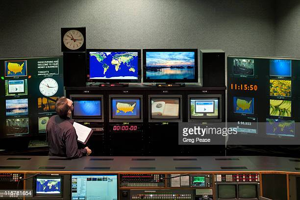 Television Broadcast Control Room