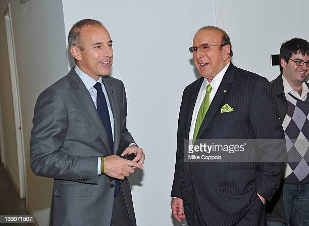 Television broadcaster Matt Lauer and record producer Clive Davis speak during the Fourth annual Martha Stewart Center for Living at Mount Sinai gala...