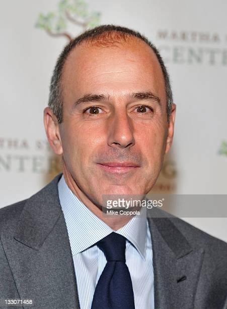 Television broadcaster Matt Lauer attends the Fourth annual Martha Stewart Center for Living at Mount Sinai gala at the Martha Stewart Living...