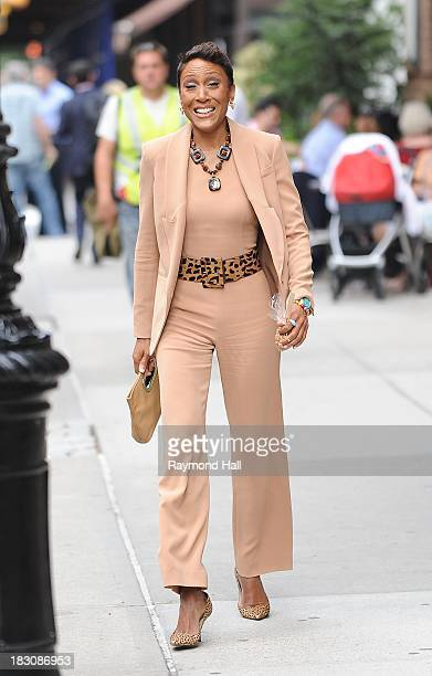 Television Broadcaster Robin Roberts is seen in Soho on October 3, 2013 in New York City.