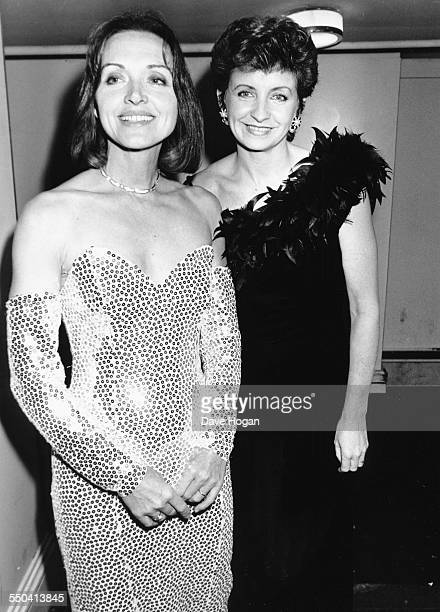Television broadcasters Anna Ford and Sue Lawley attending the Laurence Olivier Awards in London January 31st 1989