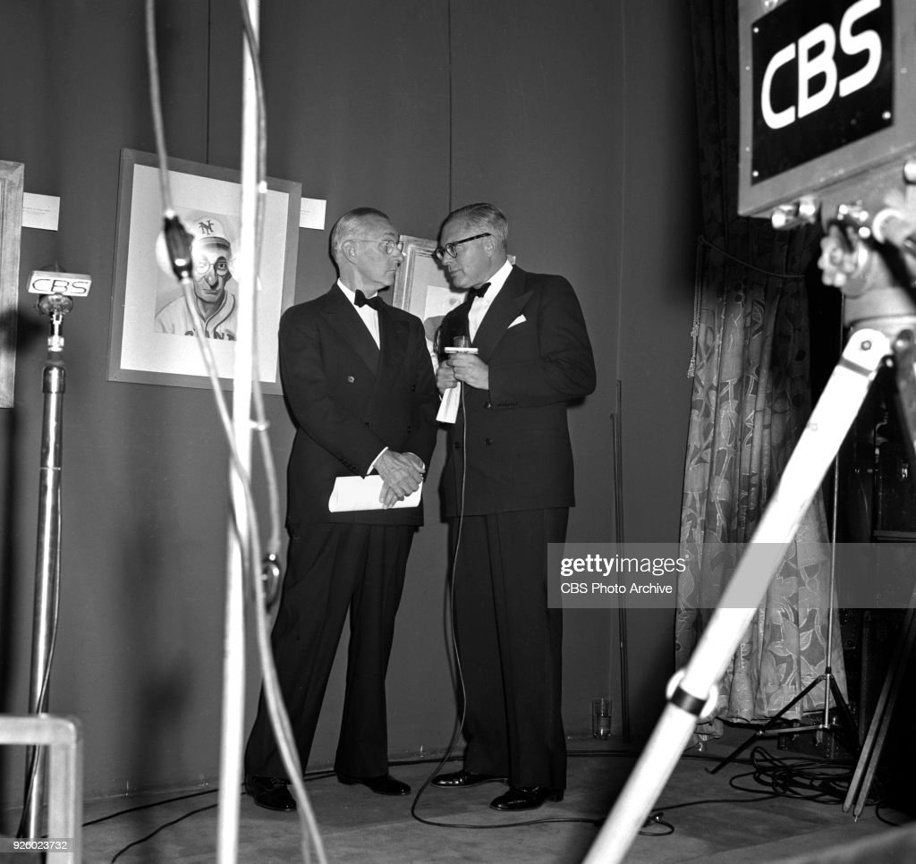 Cbs Television Broadcasts From An Art Show Paintings By Famous Amateurs Paintings By Celebrities
