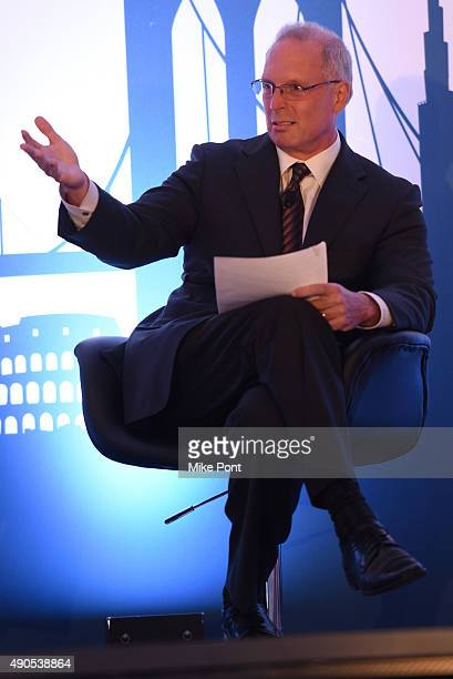 Television Bureau of Advertising President and CEO Steve Lanzano speaks onstage at the Digital Disruptors panel during Advertising Week 2015 AWXII at...