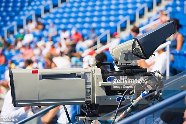 television camera at stadium - sport venue stock pictures, royalty-free photos & images