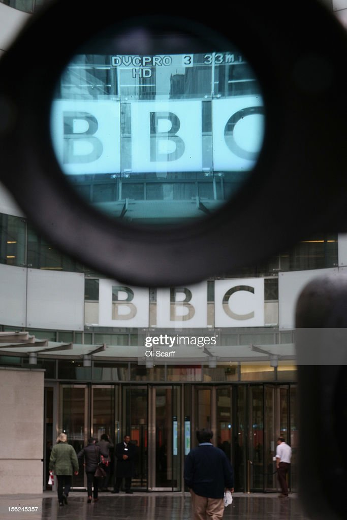 A television camera films the BBC headquarters at New Broadcasting House on November 12, 2012 in London, England. Tim Davie has been appointed the acting Director General of the BBC following the resignation of George Entwistle after the broadcasting of an episode of the current affairs programme 'Newsnight' on child abuse allegations which contained errors.