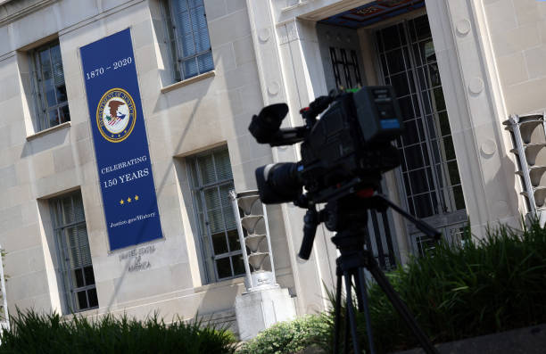 DC: Media Executives Meet With Attorney General Merrick Garland At The Dept. Of Justice