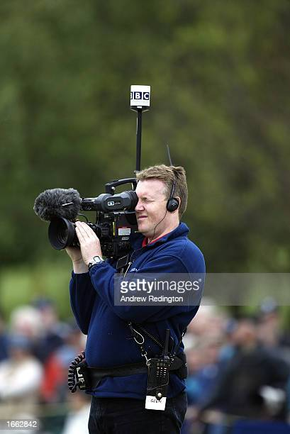 A television cameraman during the second round of the Benson and Hedges International Open held on May 10 2002 at the Belfy in Sutton Coldfield...