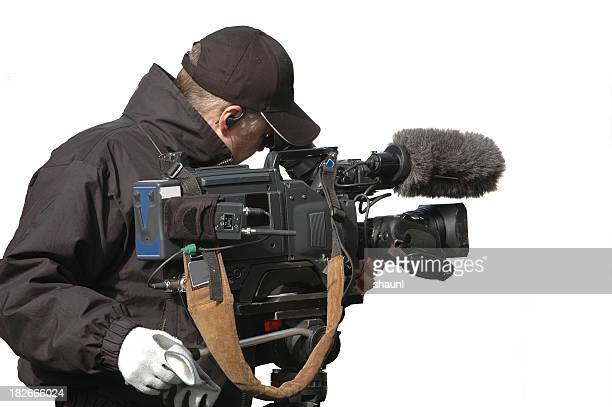 television cameraman - cinematographer stock pictures, royalty-free photos & images