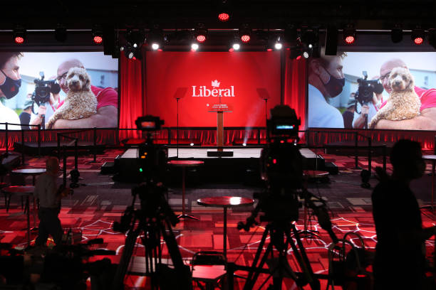 CAN: Prime Minister Justin Trudeau Attends Election Night Event