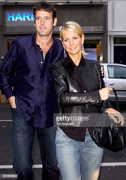 Television Celebrity Ulrika Jonsson Arriving With Her Husband Lance Gerrardwright For An Auction Of Designer Bandanna At The Collection Restaurant In...