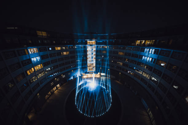 GBR: Television Centre Light Tribute To The NHS