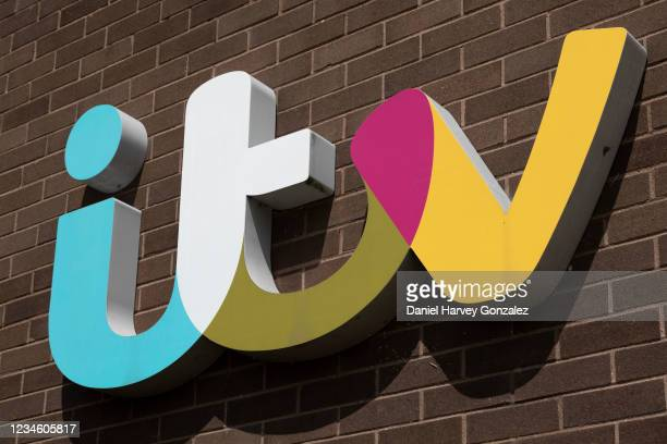 Television Centre sign on 15th July, 2021 in Leeds, United Kingdom. Owned by ITV Yorkshire's parent company, ITV plc, the television centre is home...