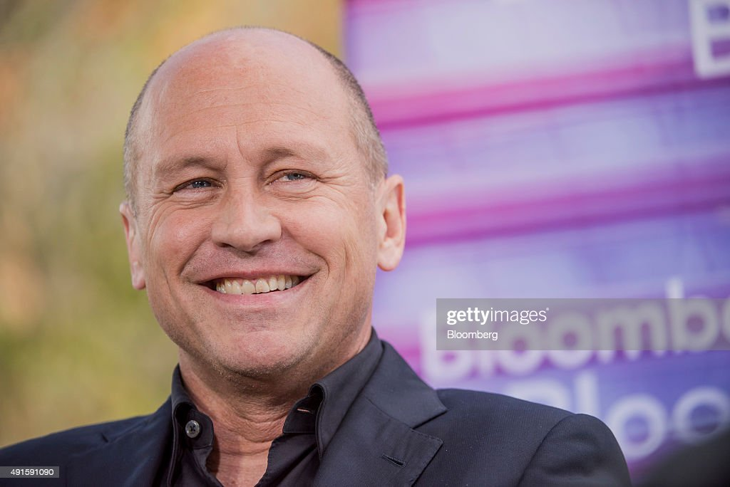 Television comedy writer and producer Mike Judge, reacts during a Bloomberg Television interview at the Vanity Fair 2015 New Establishment Summit in San Francisco, California, U.S., on Tuesday, Oct. 6, 2015. The summit assembles titans of technology, politics, business, and media for inventive programming and inspiring conversations around the ideas and innovations shaping the future. Photographer: David Paul Morris/Bloomberg via Getty Images