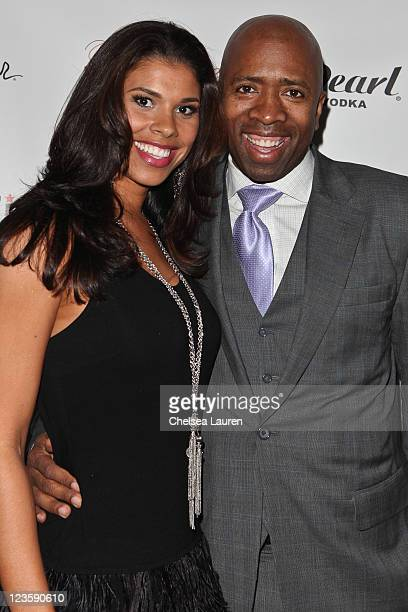 Television commentator / athlete Kenny Smith arrives at the Notifi Records Post GRAMMY party at Philippe Chow on February 13 2011 in Los Angeles...