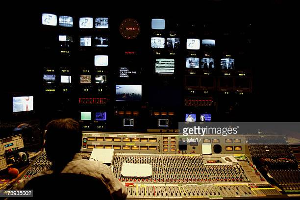 television control room - post-production stock pictures, royalty-free photos & images