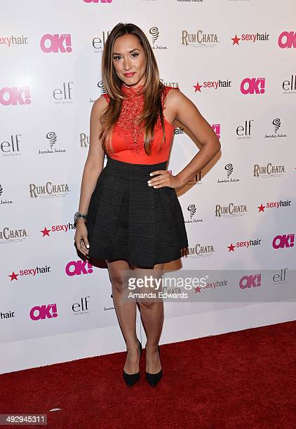 Television correspondent Michelle Joy Phelps arrives at OK Magazine's 'So Sexy' LA Event at Lure on May 21 2014 in Hollywood California