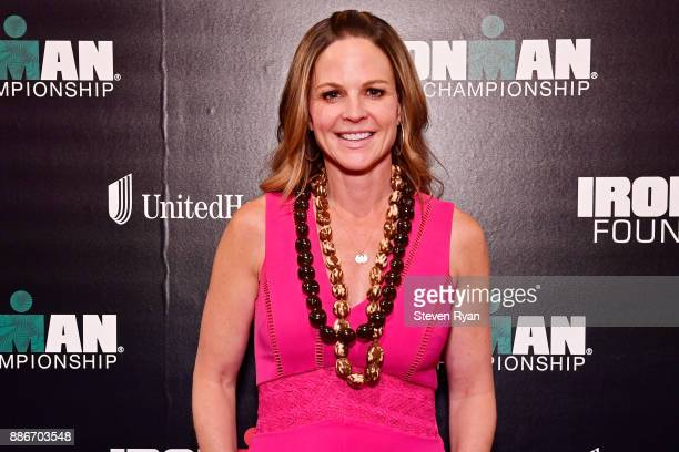 Television correspondent Shannon Spake walks the red carpet during the IRONMAN World Championship Broadcast Premiere at New World Stages on December...
