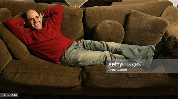 Television creator and writer, Matthew Weiner is photographed at his home in Los Angeles on October 15, 2007 for the Los Angeles Times. CREDIT MUST...